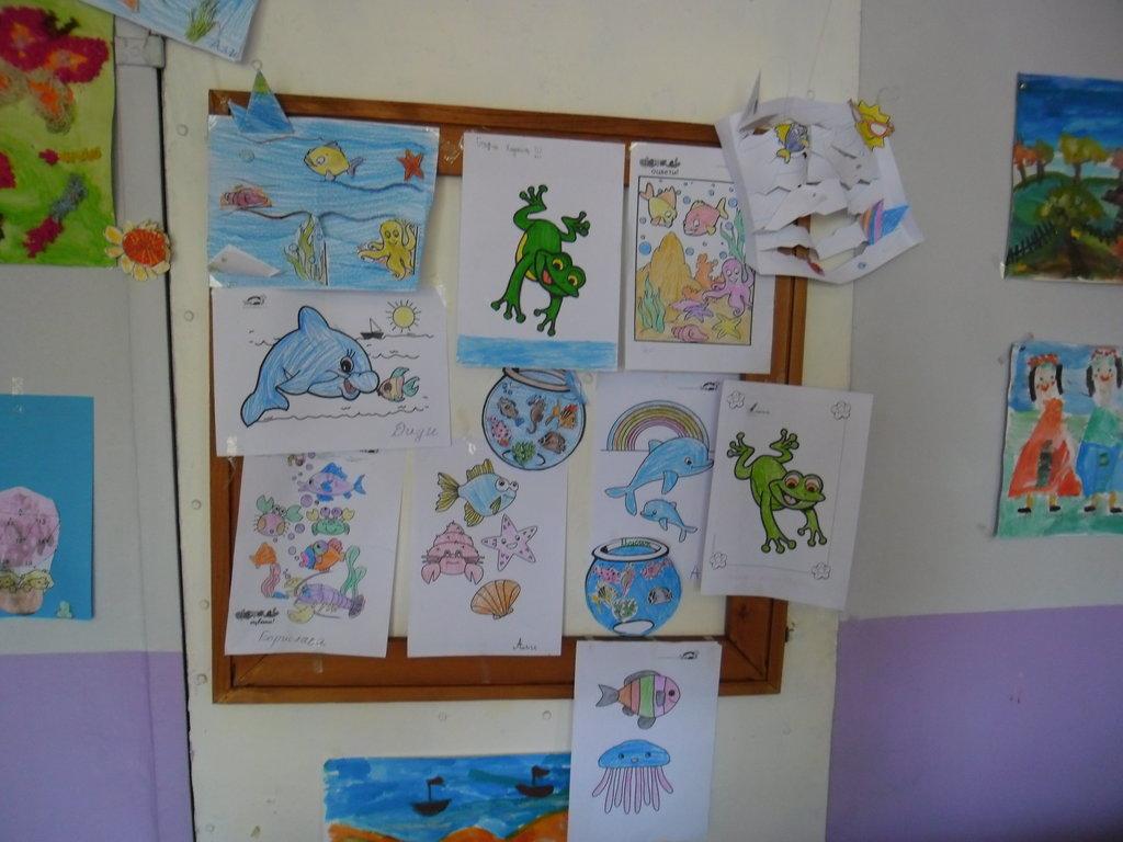 Това са рисунките, които сътвориха децата, за да ни радват.