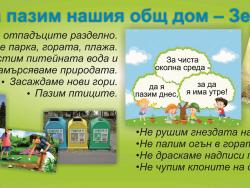 """""""За чиста околна среда – да я пазим днес, за да я има и утре"""""""