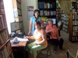 Обучения в библиотеката в село Труд